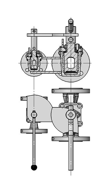 Antrieb-Verriegelung-Zuendflammenkombi